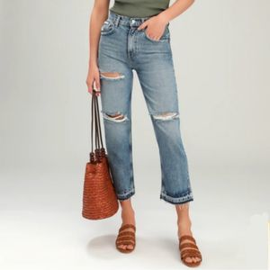 Free People Lita Distressed High Waisted Jeans NWT